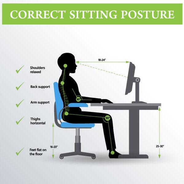 Korrekte Sitzposition